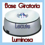 Base Giratoria Luminosa Led Multicolor Adorno Decoracion