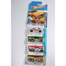 Hotwheels Hw Set De 5 Vehiculos De Bomberos, - Nuevos