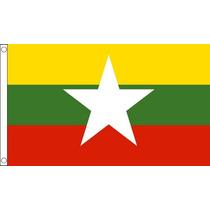 Bandera De Myanmar - Nueva Birmania Birmano Presente 5ftx 3f