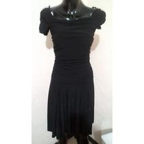 Vestido De Licra Negro Talla Ch Chinito