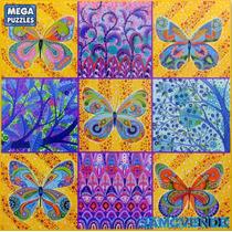 Rompecabezas Mariposas Coloreadas, Arte, Paisaje, Dibujo