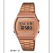 Reloj Casio Dorado B640 Cobre / Oro Rosa Vintage Retro