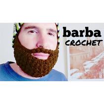 Gorro Tejido Con Barba/hecho A Mano/barba Crochet/