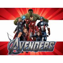 Kit Imprimible Los Vengadores Avengers Invitaciones Candybar