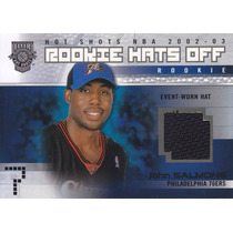 2002-03 Fleer Hot Shots Hat Rookie John Salmons /350