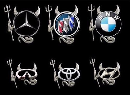Sticker 3d Devil Mazda, Volkswagen, Bmw, Toyota, Hyundai Foto 4