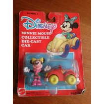1980´s Minnie Mouse Carrito Die-cast Mattel Arcos Toy Nuevo