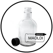Botella De Vidrio Redonda 375ml. 24 Pzas. ( Envases Frasco )