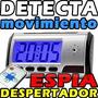 Reloj Despertador Con Cámara Espía Sensor Movimiento Op4
