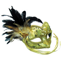 Traje De Mascarada - Máscara De Oro Del Patrón Trenzado Oj