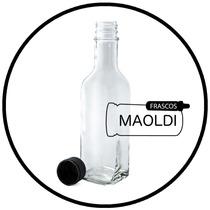 Botella De Vidrio Cuadrada 250ml. 24 Pzas. ( Envases Tarro )