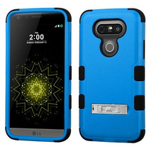 Funda Protector Triple Layer Lg G5 Azul C/pie Metalico