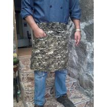 Mandil Soldado Camuflajeado Pixeleado En Algodon Gabardina