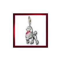 Dije Perro French Poodle-plata .925-esmaltado - Flete Gratis