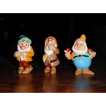 Disney Blanca Nieves 3 Figuras De Enanos