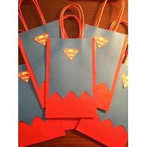 Bolsas Para Fiesta Infantil Con Capa De Superman