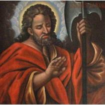 Lienzo Tela Arte Sacro San Judas Tadeo 70 X 70 Cm Alemania