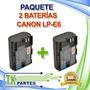Kit Dos Baterías Canon Lp-e6 Eos 5d Mark Ii Eos 60d