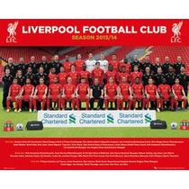 Liverpool Fc Poster - Foto De Equipo 13 14 Mini 40x50cm