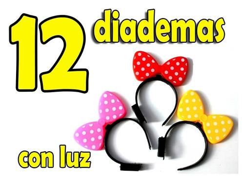 12 Diademas Con Luz Moño De Mimi Mouse Disney - $ 140.00 en ...