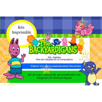 Kit Imprimible The Backyardigans, Invitaciones Y Cajitas