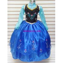 Disfraz Vestido Frozen Ana Princesa Elsa Sofia Zapatillas