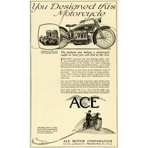 Lienzo Ace Motorcycle Corp Usa Anuncio 1920 Poster Moto