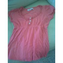 Blusa Casual Para Dama Marca Zara Color Salmón Op4