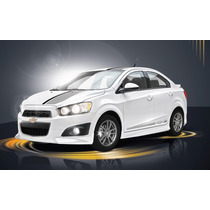 Sticker En Vinil Franjas Chevrolet Sonic Zmx 2014