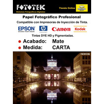 Papel Fotográfico Carta Mate Doble Cara 50 Fotos