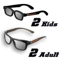 Ed Familia 4 Paquete Pasiva 3d Gafas Genuino Edimensional Se