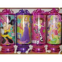 Recuerdos Centros De Mesa !!lamparas Minnie Mouse, Rapunzel,
