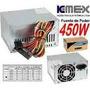 Fuente De Poder Kemex 450w Atx 20+4 Pines 2 Conectores Sata