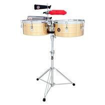 Timbales Latin Percussion 14/15 Con Atril Y Soporte Lp257b