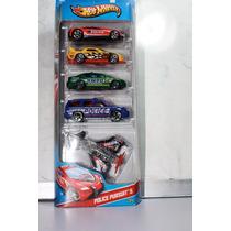 Hotwheels Policia, Vehiculos Policiacos Set De 5, - Nuevo