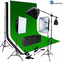 Kit Estudio Fotografico Softbox Boom Stand Iluminacion