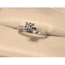 Anillo Compromiso 14k Diamante Natural .8 Puntos G Vvs2