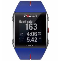 Reloj Triatlón Con Gps, Frecuencia Cardiaca Polar V800 Azul