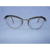 Lentes American Optical Baño Oro 12kt Vintage Ojo De Gato