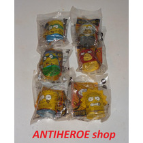 Los Simpsons Super Heroes Set De 6 Figuras De Burger King