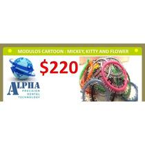 Modulos Ortodoncia Cartoon Mickey, Kitty And Flower
