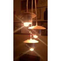 Lámpara Reciclada Colgante Decoración Cafetería Tazas