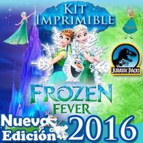 Frozen Fever Kit Imprimible Invitaciones Fiebre Congelada