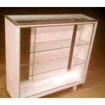 Vitrina Exhibidora Mostrador Entrepaños Vidrio