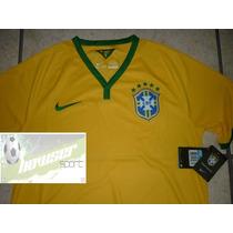 Jersey Nike Seleccion Brasil Mundial 2014 Canariñha, Neymar
