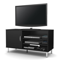 Mueble Tv Y Multimedia Moderno Color Negro Pc9ng