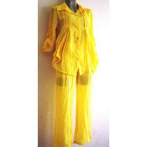 Conjunto Palatzo Blusa Pantalon Moda Primavera Verano Mn4