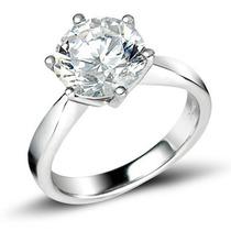 Anillo Con Diamante De 2.50 Ct Corte Redondo Y Oro 14k -40%