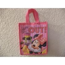 Minnie Mouse 10 Bolsitas Fiestas Dulceros Regalos Tela Ecol
