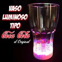 Vaso Luminoso Iluminado Led Multicolor Fiestas De Colores